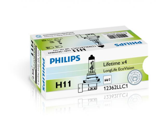 Zarowka h11 55w 12v long life 12362LLECOC1 PHILIPS.